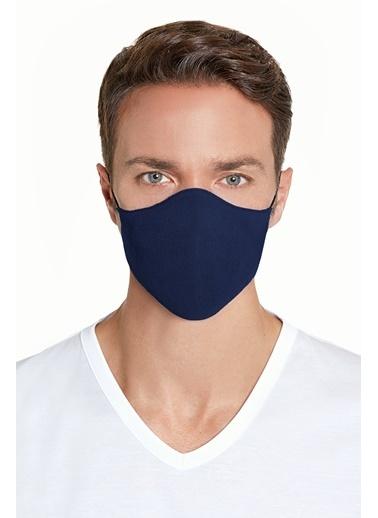 Hemington Pamuk Yıkanabilir Triko Maske Lacivert